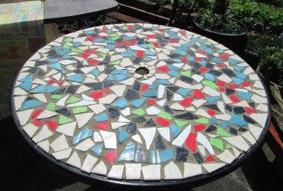 Круглый стол с мозаикой