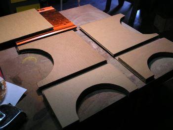 Заготовка деталей тумбы