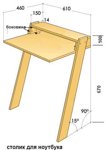 Пристенный столик своими руками