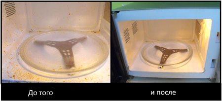 Отмываем микроволновку