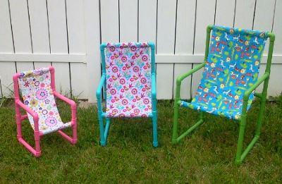 Самодельные стулья из труб