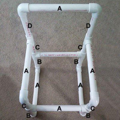 Конструкция стула из труб