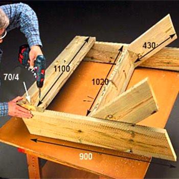 Как сделать дачную скамейку