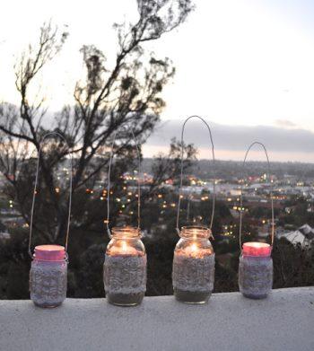 Самодельные фонари со свечами