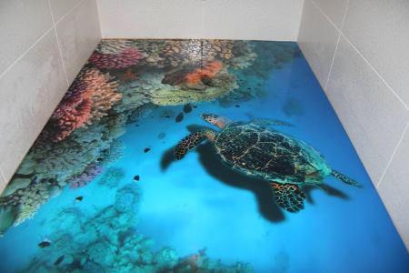 Декор пола ванной в 3D
