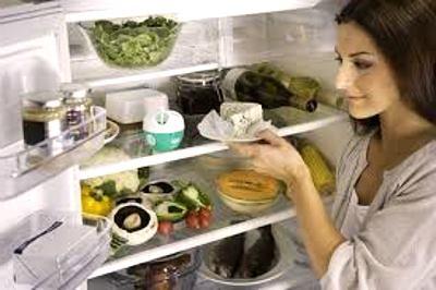Открытая дверца и горячая пища нежелательны