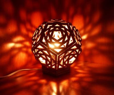 Светильник из гофрированного картона