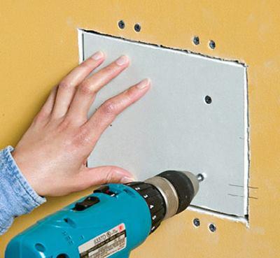 Заделать дырку в стене