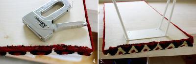 Фиксируем края ткани степлером