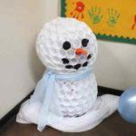 Самодельный домашний снеговик
