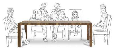 Стол для всей семьи