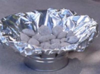 Накрыть алюминиевой фольгой