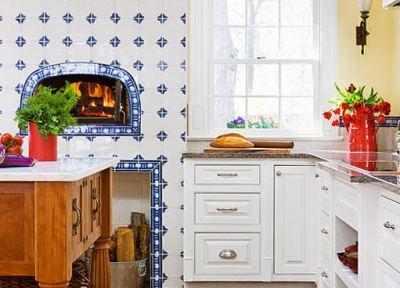 Печь на кухне