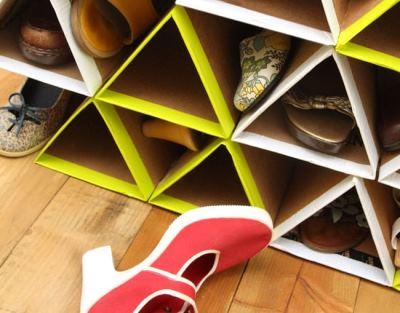Обувная стойка из картона