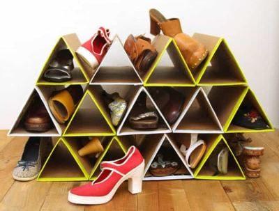 Самодельная обувная стойка