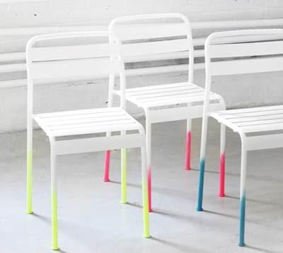 Перекрасить дачные стулья