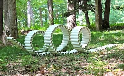 Декоративные скульптуры из труб