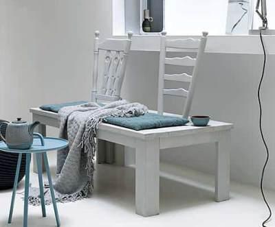 Как сделать скамейку из старой мебели