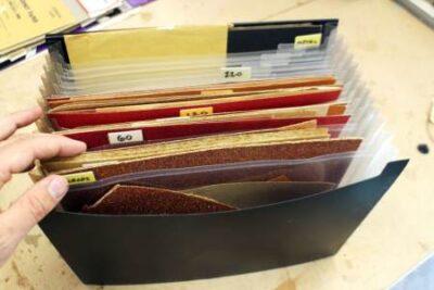 Хранение наждачной бумаги