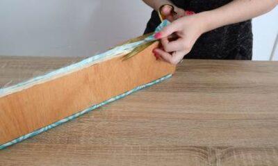 Подрезать края ткани