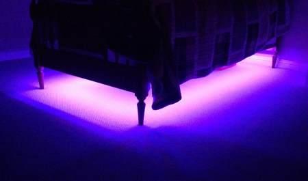 Как сделать подсветку под кроватью