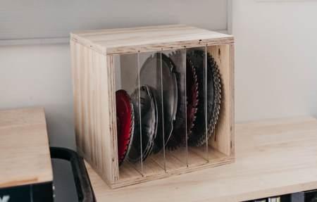 Ящик для хранения пильных дисков