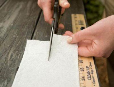 Разрезать ножницами