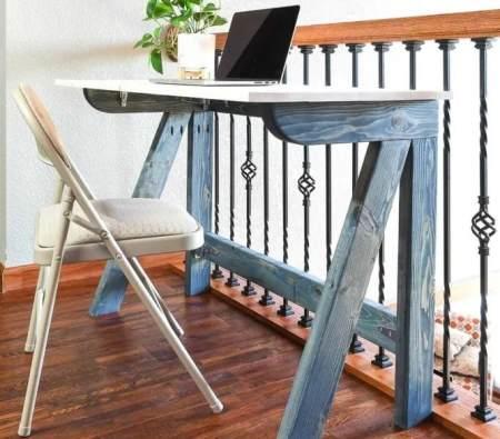 Самодельный консольный складной стол
