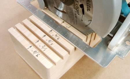 Глубиномер для ручной циркулярной пилы
