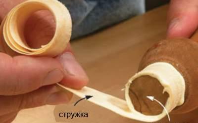 Шпон для ремонта шипа